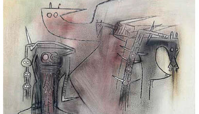 Wilfredo Lam Untitled, 1973 Oil on canvas 28 x 39 inches