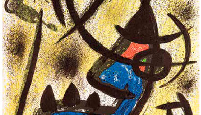 Joan Miró Il Círculo de Petra, 1971 Lithograph 22.32 x 17.75 inches 50/125 Hand signed and numbered by Artist. Certified by Miró Foundation.