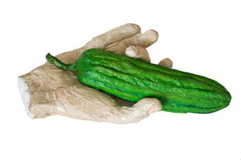 Hand with Cucumber